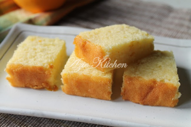 Kek Oren Yang Gebu Dan Lembab Azie Kitchen