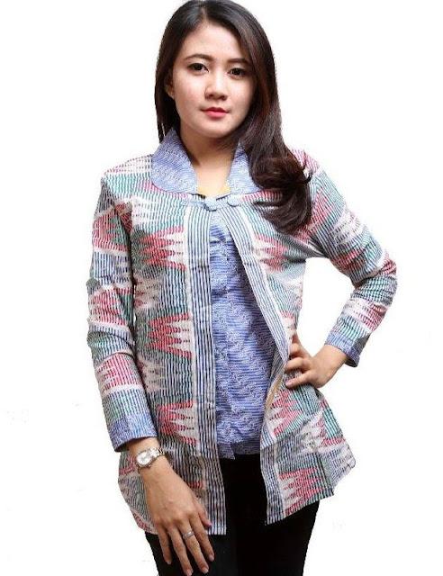 Model Baju Batik Kerja Terkini