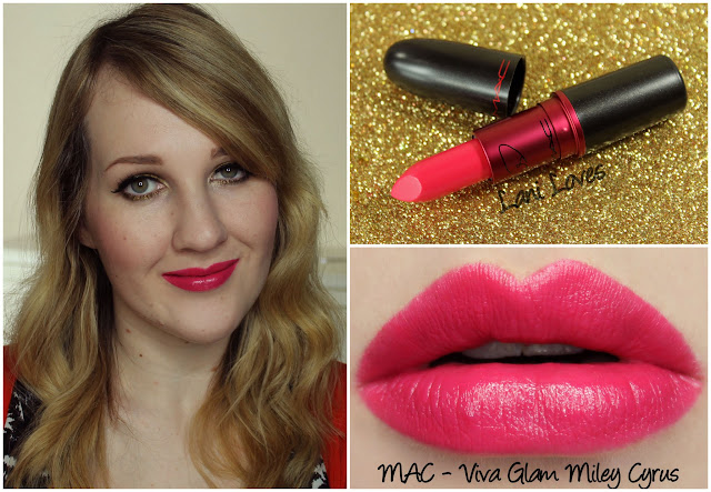 MAC Viva Glam Miley Cyrus lipstick swatch