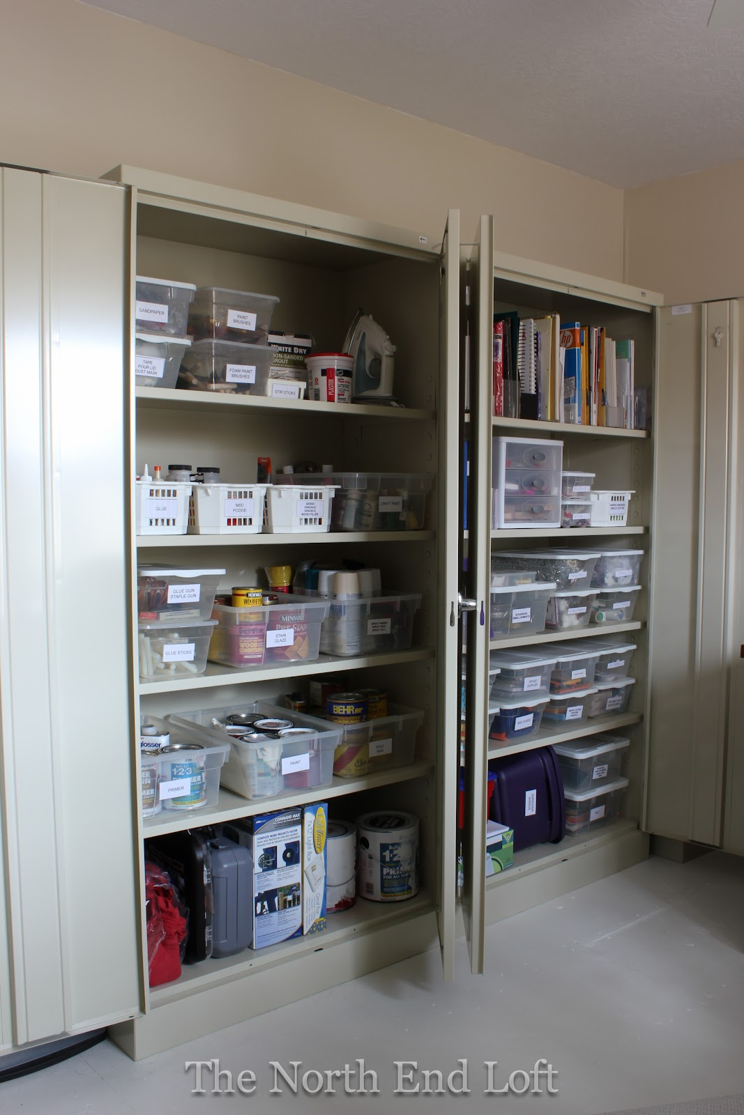 The North End Loft Craft Room Storage