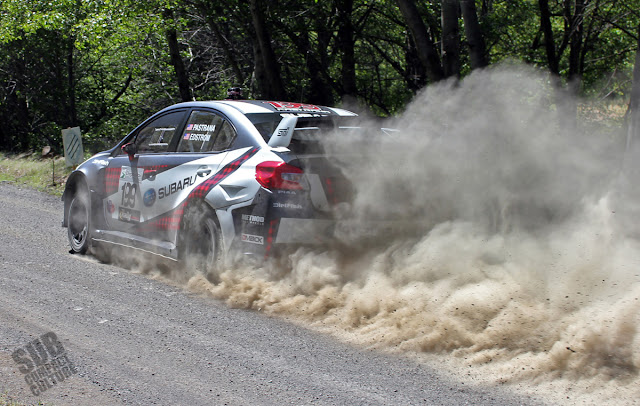 Travis Pastrana launching at Oregon Trail Rally