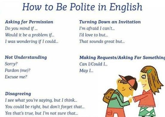 كيف تكون مهذبا فى اللغة الانجليزية  How to be polite in English