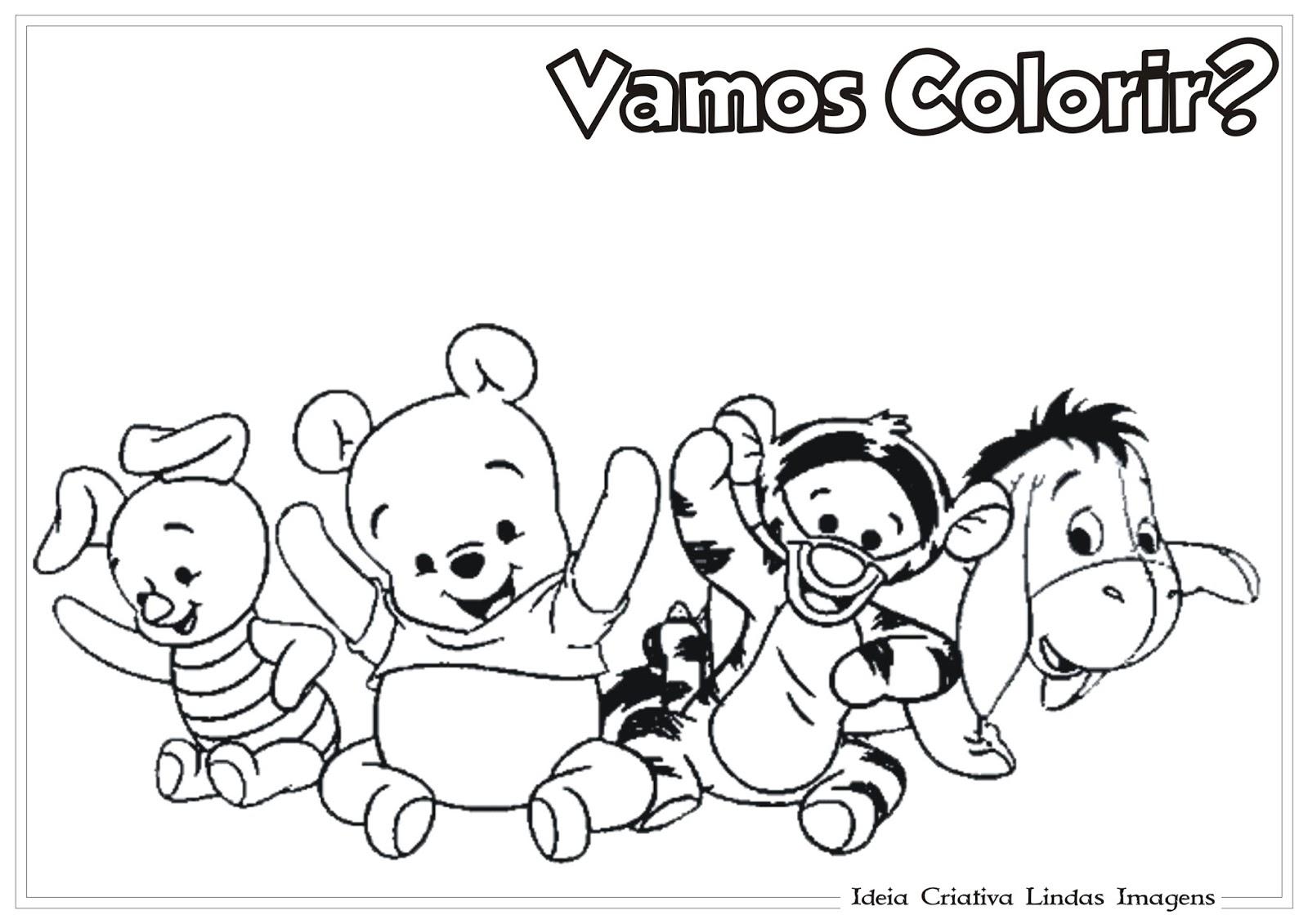 Ursinho Pooh Baby E Turma Colorir