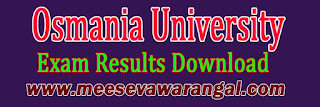 Osmania University BBA May 2016 Exam Results Download