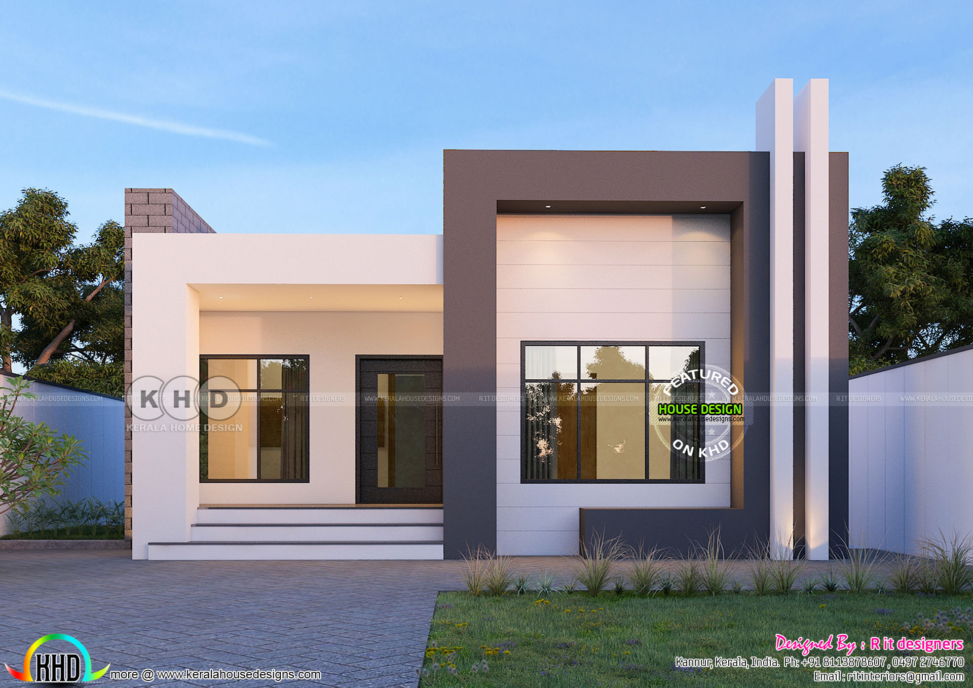 2 Bhk 874 Square Feet Contemporary Single Floor Home
