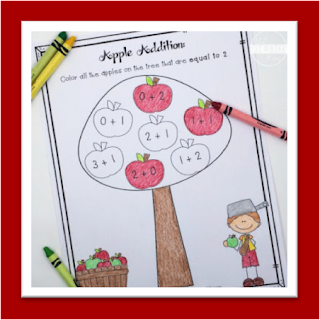 Apple Addition Worksheets