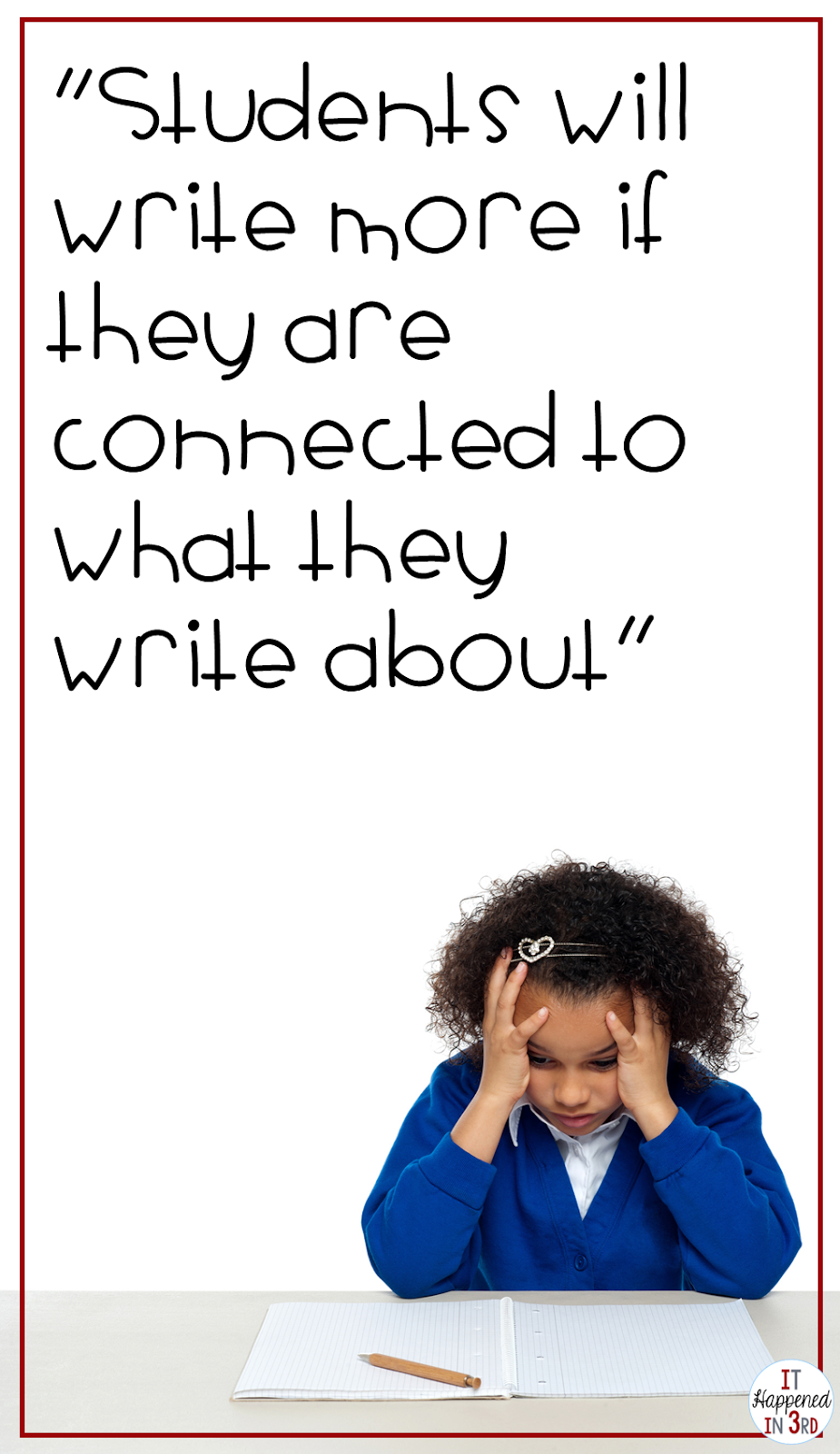 5 Writing Activities for Reluctant Writers! - It Happened in 3rd