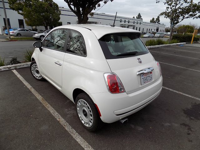 Fiat 500 in original factory white paint