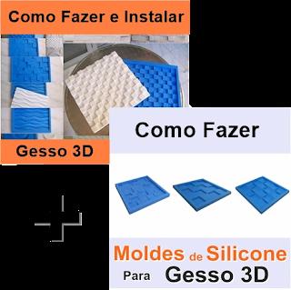 Você irá fazer o curso de gesso 3d e o como fazer moldes de placas 3d