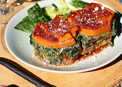 http://www.looneyforfood.com/noodle-free-lasagna-with-pumpkin-and-vegan-kale-ricotta/