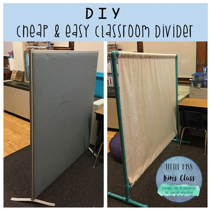 Little Miss Kims Class DIY Cheap Easy Classroom Divider