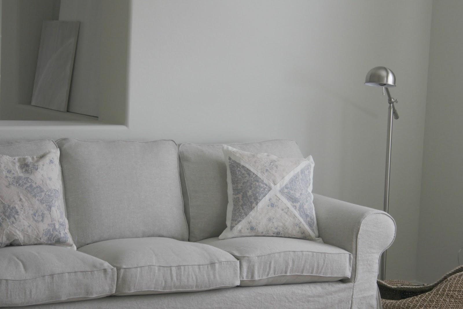 Bemz Belgian linen slipcover on sofa in Arizona home - Hello Lovely Studio