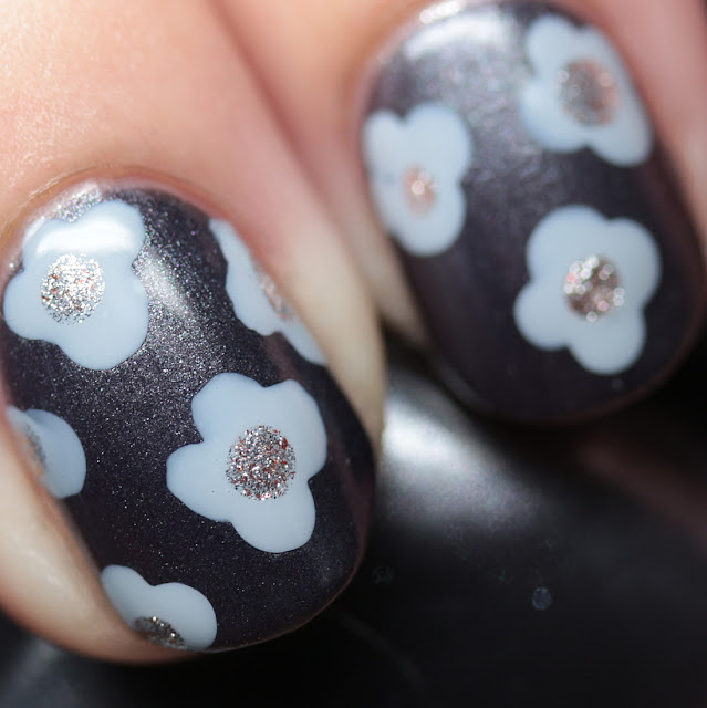 Sally Hansen Complete Salon Manicure and Miracle Gel dotting nail art