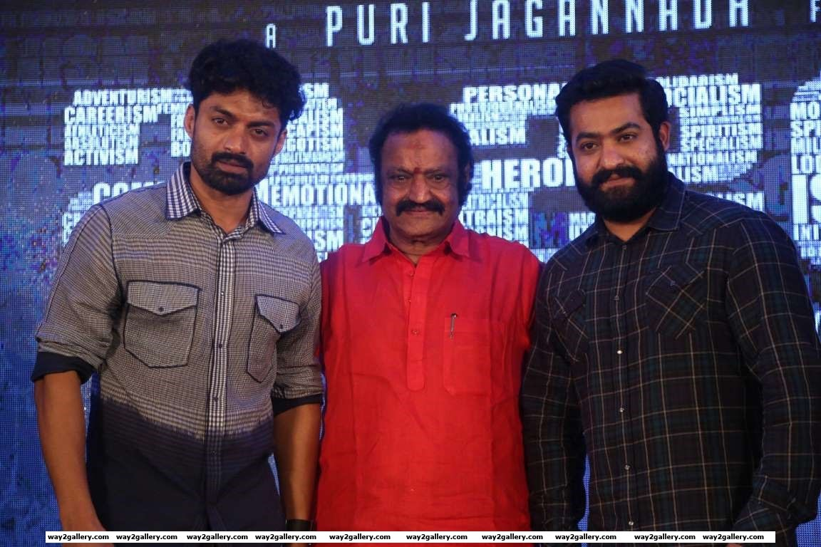 Jr NTR and Nandamuri Harikrishna graced the audio launch of Kalyan Rams Telugu film ISM