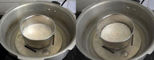 pressure cooking coconut rice paste