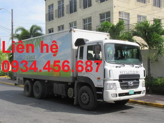 Giá xe tải Hyundai HD260 thùng kín