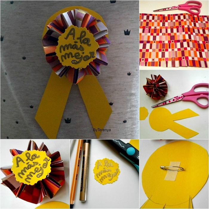 manualidades-medalla-origami