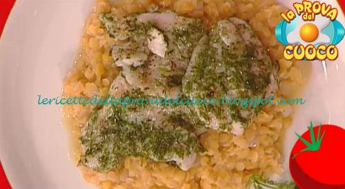 Cernia al finocchietto con lenticchie stufate ricetta Zoppolatti da Prova del Cuoco