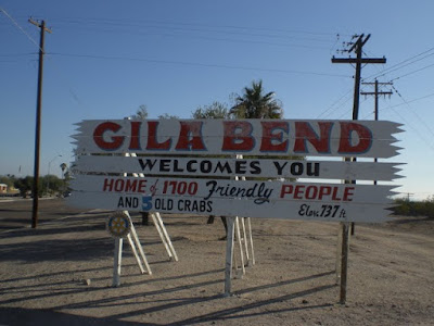 Gila Bend Welcomes You Sign