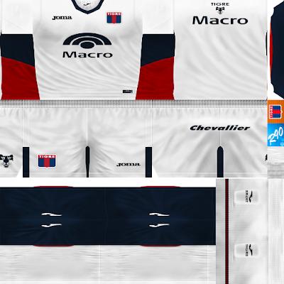 PES 6 Kits C.A. Tigre Season 2017/2018 by Rodry90 Kitmaker