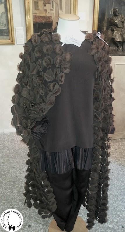 Valentina Cortese - Mostra Milano - Gianni Tolentino dress, Maurizio Galante cape
