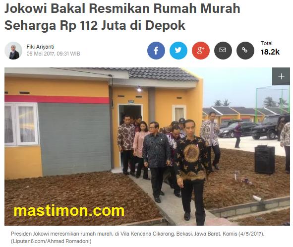 Image Result For Rumah Subsidi Jokowi Di Depok
