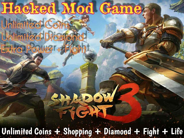Shadow fight 3 mod Game Unlimited coins shopping and diamond with Infinity power