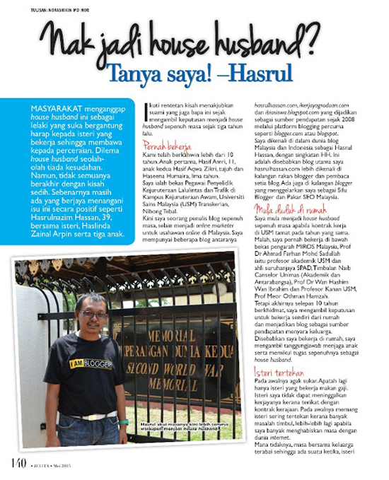 Tips Menjadi House Husband - Majalah Jelita Mei 2015