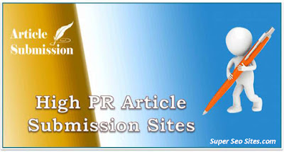High PR Article Submission Sites with Instant Approval