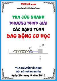 Tra Cứu Nhanh Phương Pháp Giải Các Dạng Toán Dao Động Cơ Học - Nguyễn Vũ Minh