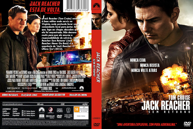 Capa DVD Jack Reacher Sem Retorno