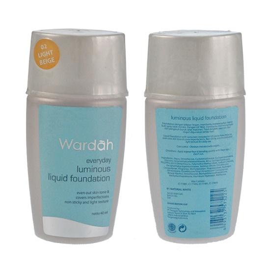 Review Wardah Luminous Liquid Foundation, Keren loh!