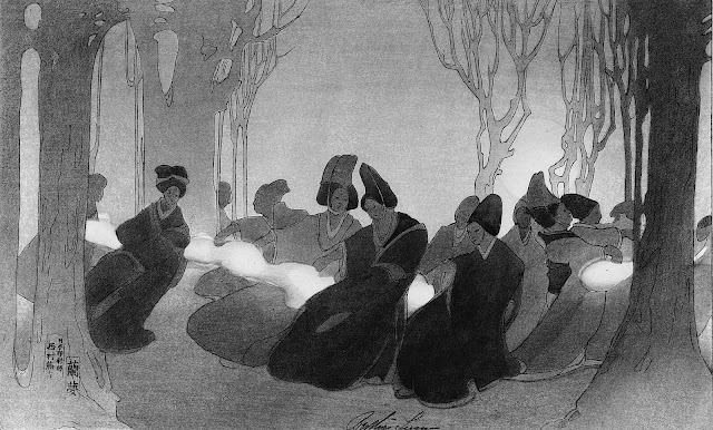 women dancing in fog by Bertha Boynton Lum