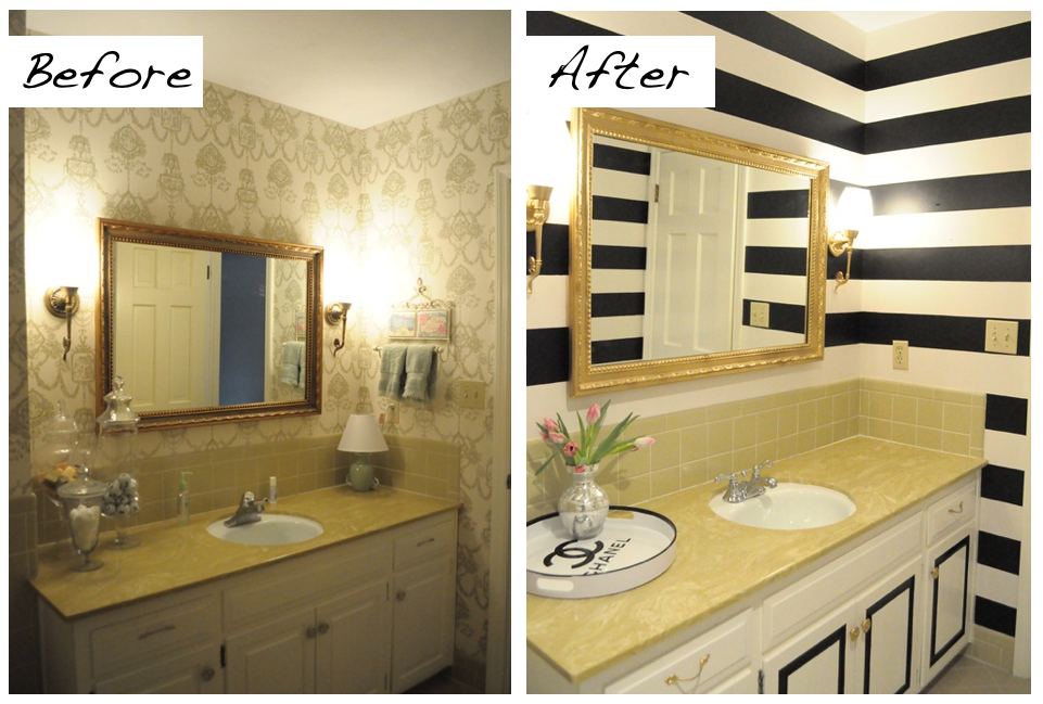 the power of paint a bathroom makeover. Black Bedroom Furniture Sets. Home Design Ideas