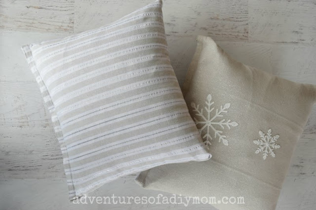 how to make a pillow cover from a dish towel