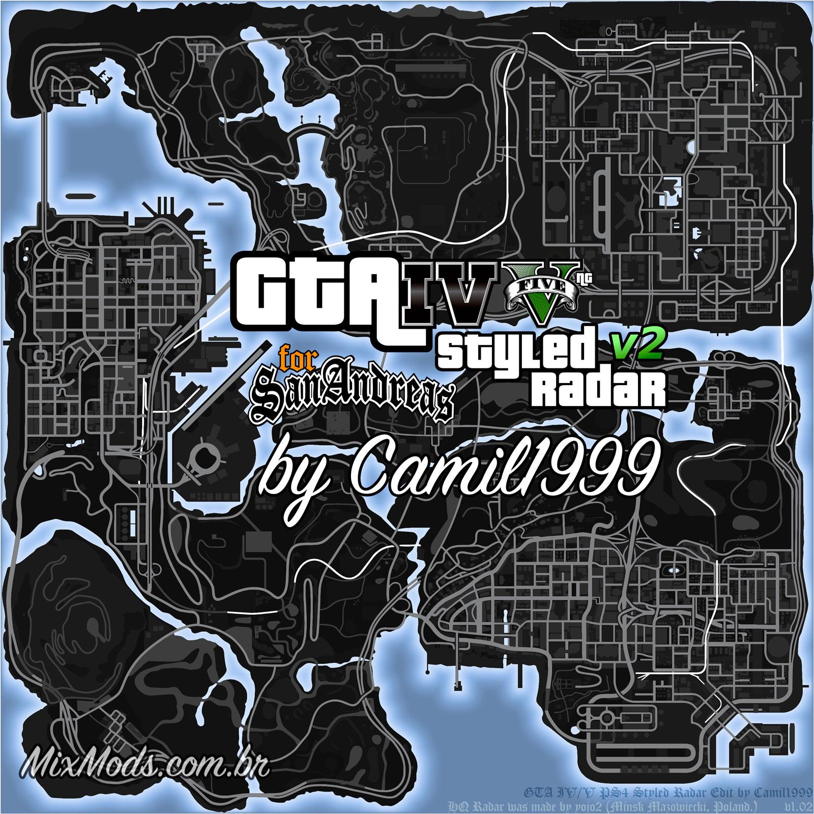Gta V Styled Radar V2 Radar Do Gta V Para Gta Sa Mixmods