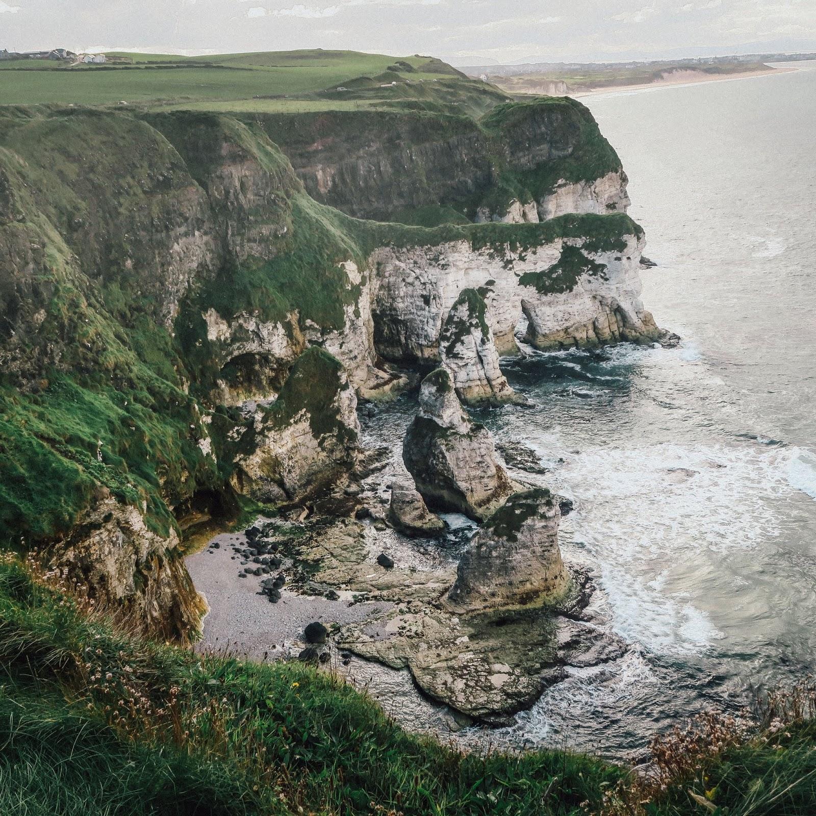 northern ireland coast rocks irish sea waves liquidgrain liquid grain