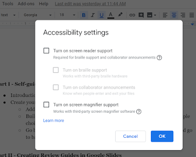 Google Has Improved Access to G Suite Accessibility Settings