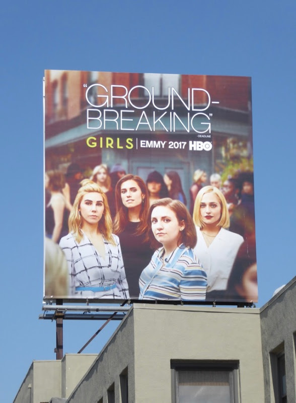 Girls Groundbreaking season 6 Emmy FYC billboard