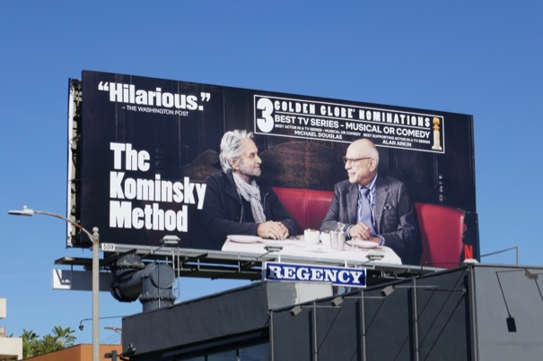 Kominsky Method Golden Globe nominee billboard
