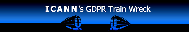 ICANN's GDPR Train Wreck  ©2018 DomainMondo.com (graphic)