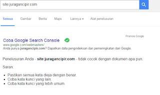 Blog Besar JuraganCipir DeinDex Google