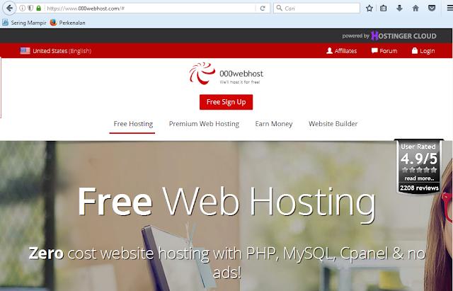 halaman depan 000webhost