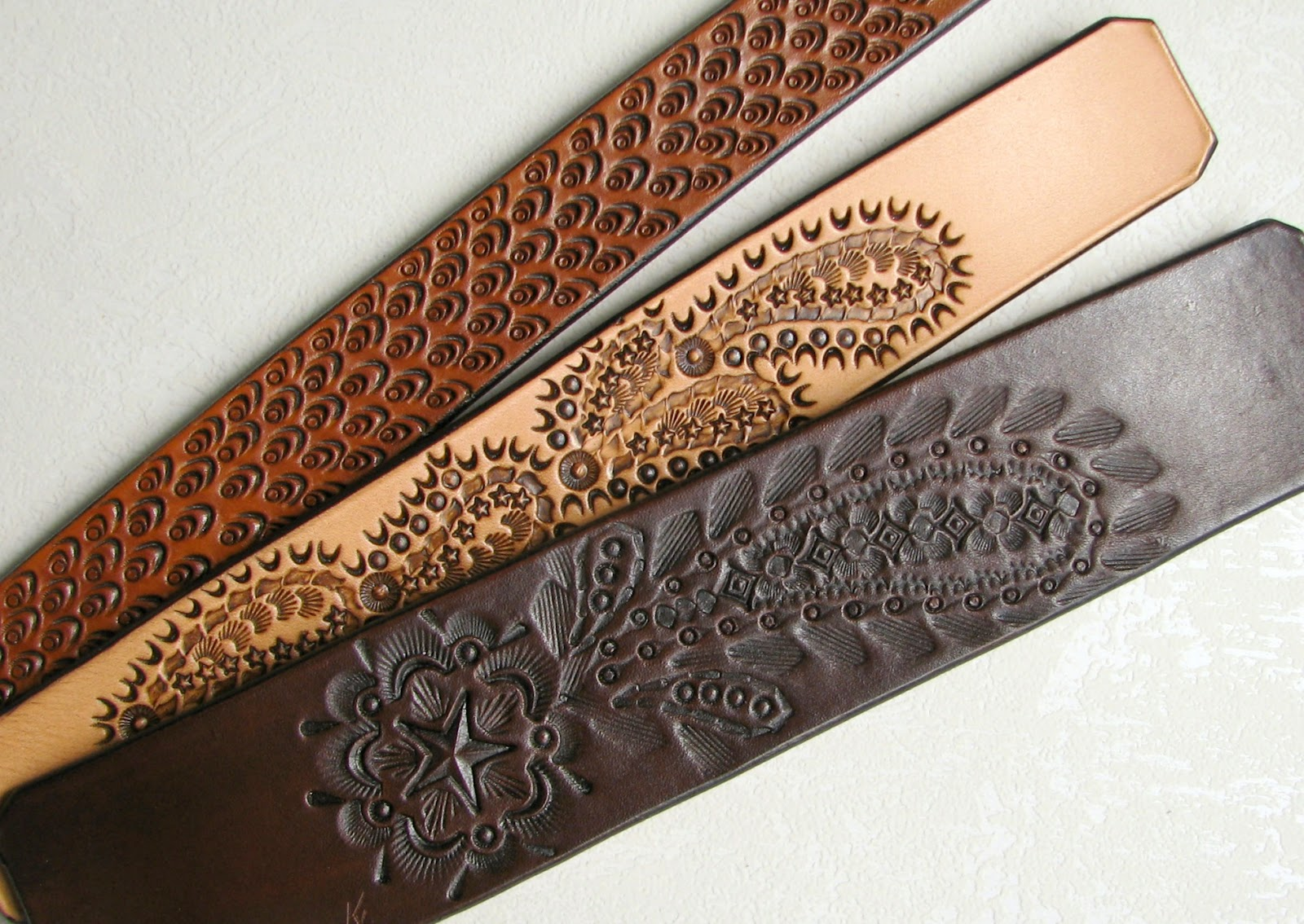 """Leather Is Better: Mehndi-Inspired """"Henna Series"""" Cuffs"""