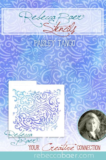 Paisley Tango Stencil | RebeccaBaer.com