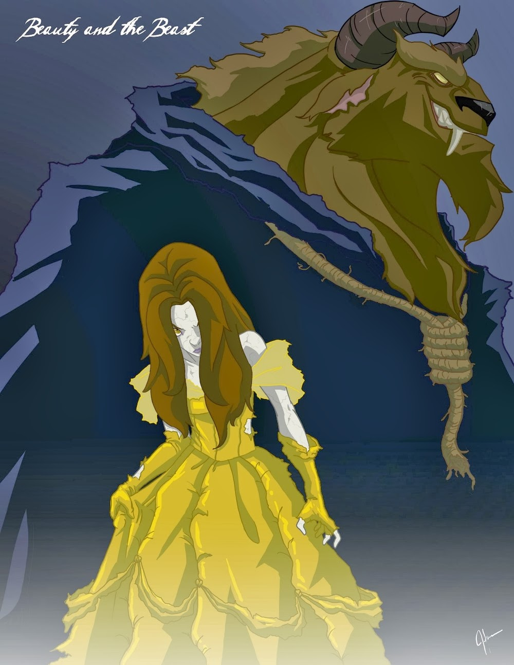 04-Belle-Beauty-and-the-Beast-Jeffrey-Thomas-Twisted-Princess-www-designstack-co