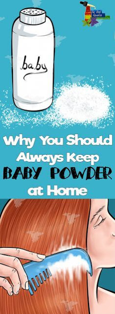 WHY YOU SHOULD ALWAYS KEEP BABY POWDER AT HOME. HERE'S 11 SURPRISING USES