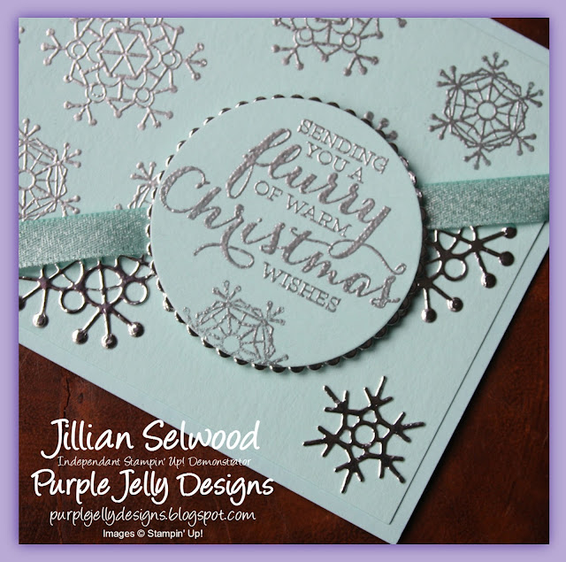 Seasonal Layers Thinlit Dies, Christmas Card, Flurry of Wishes stamp set