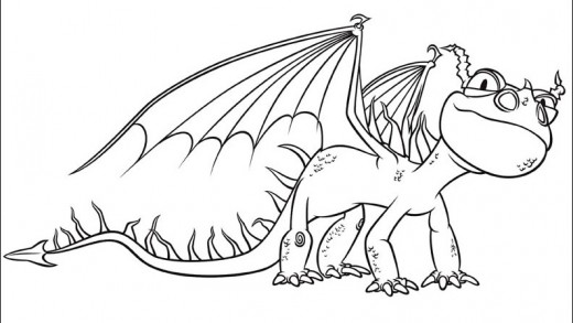 How To Train Your Dragon Coloring Pages Monstrous Nightmare - Part 3 | 293x520