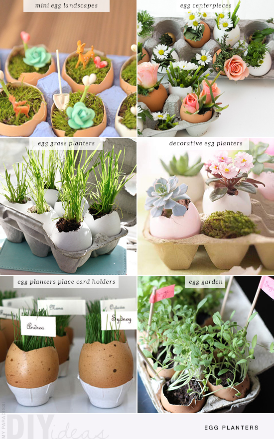 6  diy egg planters for the Easter